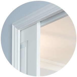 sliding pocket door with jambs